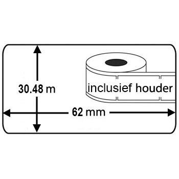 Brother DK-22205 compatible labels