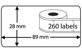 Seiko SLP-2RL compatible Labels, 260 Labels per rol