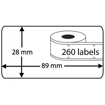 Compatible labels 99010 - S0722370 Dymo