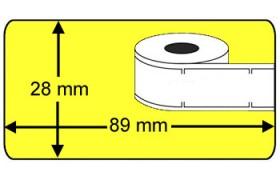 Seiko SLP-2RL compatible Labels, 260 Labels per rol, geel