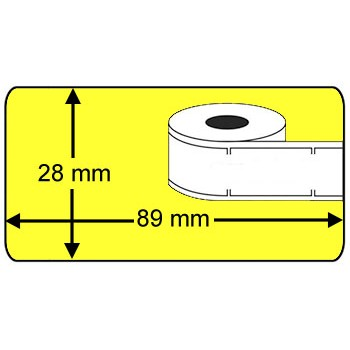 Compatible labels 99010 Dymo geel