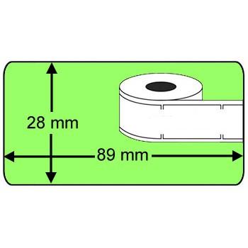 Seiko SLP-2RL compatible Labels, 260 Labels per rol, groen