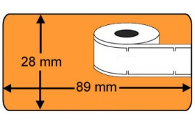 Compatible labels 99010 Dymo oranje