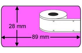 Seiko SLP-2RL compatible Labels, 260 Labels per rol, roze