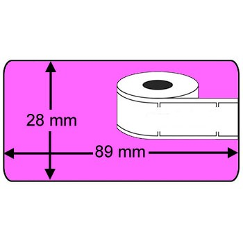 Compatible labels 99010 Dymo roze