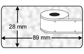 Seiko SLP-2RL compatible Labels, 260 Labels per rol, transparant
