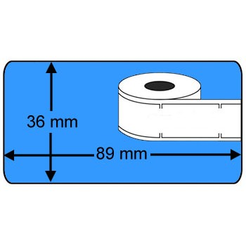Compatible labels 99012 Dymo blauw