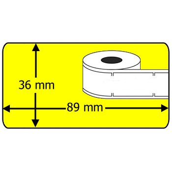 Compatible labels 99012 Dymo geel