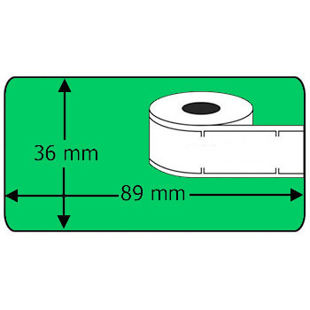 Compatible labels 99012 Dymo groen