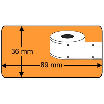 Compatible labels 99012 Dymo oranje
