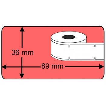 Compatible labels 99012 Dymo rood