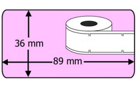 Compatible labels 99012 Dymo roze