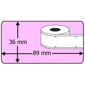 Compatible labels 99012 Dymo roze