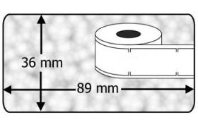 Compatible labels 99013 Dymo transparant