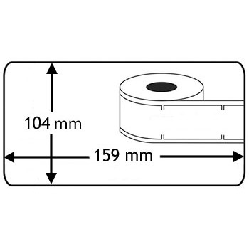Compatible labels S0904980 4XL Dymo